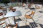 Алуминиева кръгла маса за заведения за открити пространства