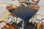Устойчиви алуминиеви столове с различни седалки
