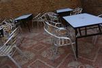 Устойчив градински стол произведен от алуминии