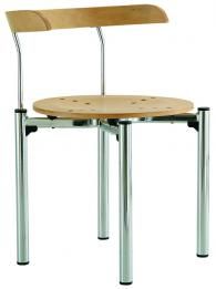 Кафе стол BISTRO wood chrome