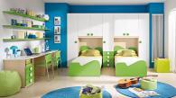 Детска стая в зелено и бяло