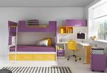 Поръчкова детска стая с двуетажно легло
