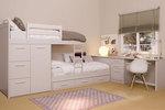 Малки шкафове за детски стаи с двуетажни легла по поръчка