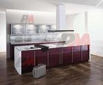 Проектиране на праволинейни кухненски модулни шкафове модерни