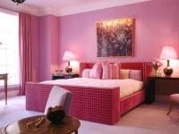 Спалня тапицирана червено каре