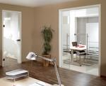 солидни  дизайнерски стъклени врати