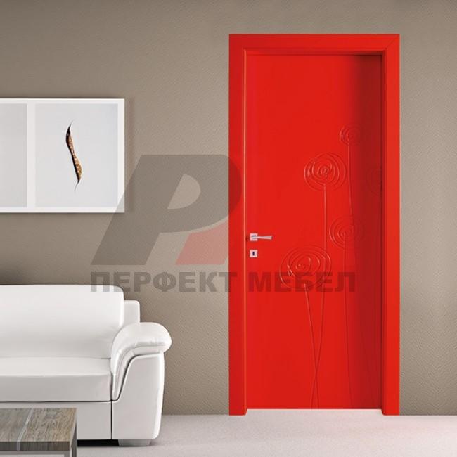 модернистични  интериорни врати боя