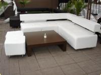 Бял диван за заведение