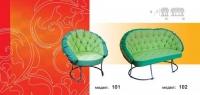 Зелена мека мебел