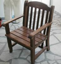 Трапезен стол от масив -