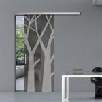 нечупливи  дизайнерски плъзгащи стъклени интериорни врати