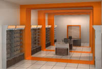 Интериорен дизайн на магазини за GSM