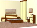 Проект за спалня по поръчка с модулни шкафове