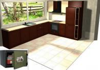 Сейф FRS 32 CL  вграден в кухня комплект