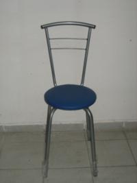 Тръбен стол с нетапицирана облегалка