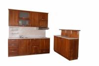 Проектиране на кухня с барплот от черешово дърво