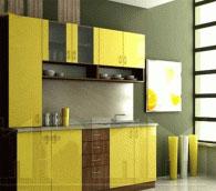 Стилна кухня в зелено