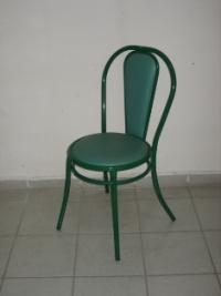 Зелен тапициран стол с облегалка