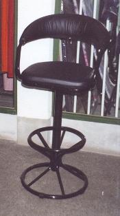Въртящ се тапициран бар стол