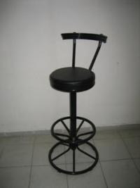 Бар стол тапициран с облегалка