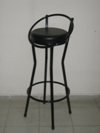Въртящ се тръбен тапициран бар стол