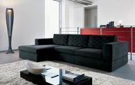 Черен дизайнерски италиански диван