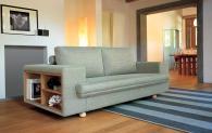 Луксозен диван с библиотечка