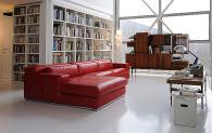 Червен луксозен италиански диван