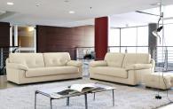 Бяла луксозна мека мебел Elvis