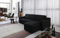 Черен италиански модерен диван