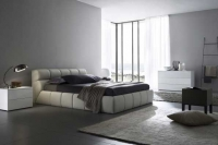 Upholstered beds with natural or eco-leather producer