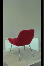 червени  офис кресла с ниска цена